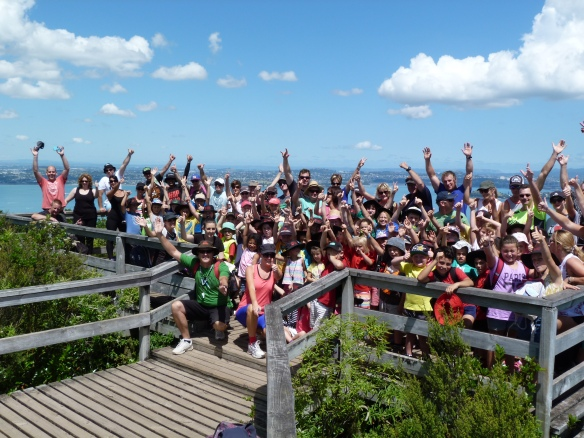 Karapiro School on the summit of Rangitoto
